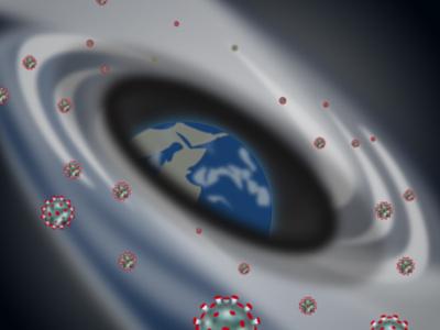 Corona in Galaxy! pandemic healthcare healthy health covid 19 milky way wormhole planet earth space covid-19 covid 2020 covid19 coronavirus corona corona virus galaxy illustration illustrator
