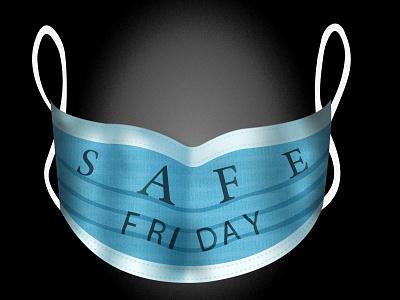 Safe Friday! price off discount healthy health safe milad ghariheydari covid-19 covid19 corona corona virus mask flyer design flyer black friday blackfriday 2020 illustration illustrator