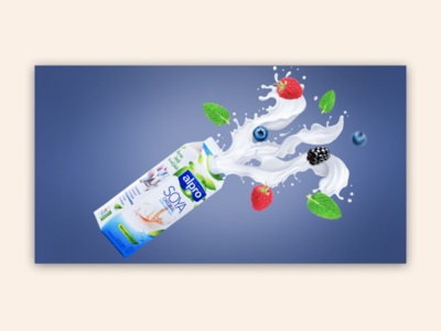 Milk advertising collage