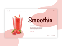 Strawberry smoothie concept №2