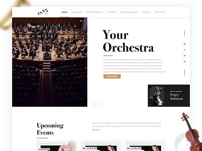 Armenian State Symphony Orchestra fashion modern type logo illustration branding minimal ui design ui  ux orchestra landing flat website typography layout interface design clean ux ui