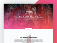 Yerevan Gallery App / Landing Page