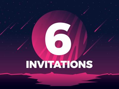 6 Dribbble Invitations!!!