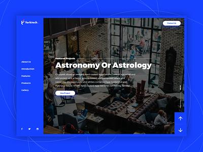 Forktech Website. flat website typography app interface design clean ux ui