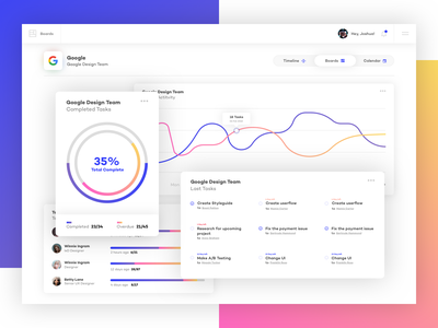 Project Management Dashboard management app dashboard ux typography gradient layout interface design clean ui