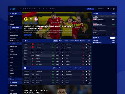 Sportbook Design ⚽ sportbook sport web typography gradient layout interface ux design clean ui