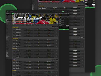 Sportbook V2  🔥🔥🔥 website gamble sportbook web typography layout interface design clean ux ui