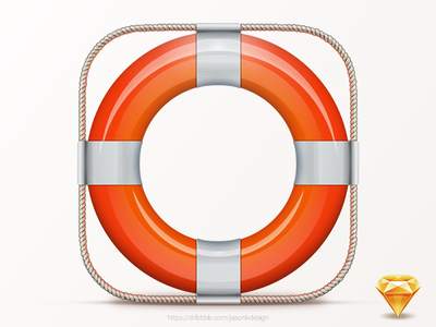 Lifebelt freebie (Sketch) lifebelt free sketch icon ios down freebie