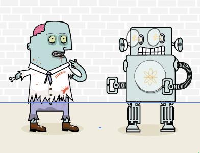 Zombie Robot Illustration illustration