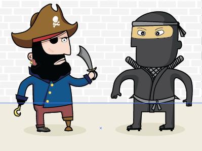 Pirate Ninja  illustration