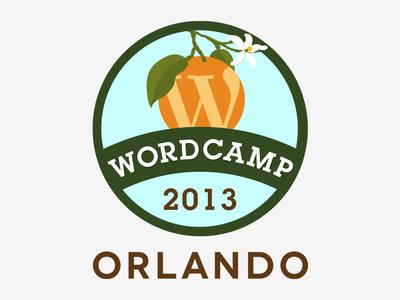 Wordcamp Orlando 2013 Logo wordcamp wordpress branding vector