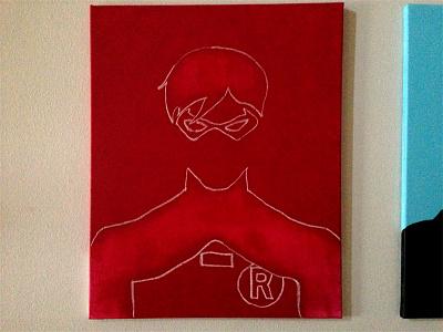 Work In Progress - Dick Grayson's Robin painting