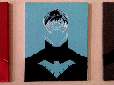 Work In Progress - Dick Grayson's Nightwing painting
