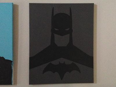 Work In Progress - Dick Grayson's Batman painting