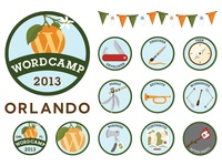 Wordcamp Orlando 2013 Stickers