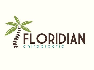 Floridian Chiropractic tropical clever chiropractor florida logo branding