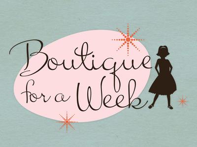 Boutique For A Week illustration logo branding