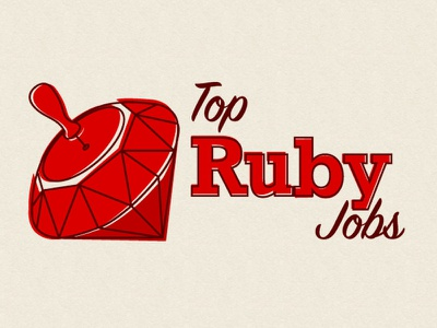 Top Ruby Jobs Logo clever illustration logo branding