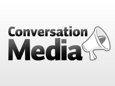 Conversation Media megaphone icon illustration logo branding