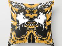 Tiger/Skull pillow