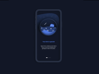 Binz - recycling app dark mode environment onboarding ui onboarding animation motion illustration recycling recycle