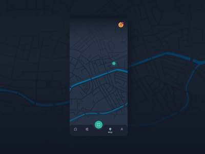 Binz - map environment dark mode ui motion animation design recycle recycling animation 2d map animation