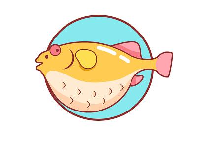 Puffer puffer colour fish puffer