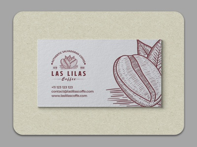 Business Card Branding for Las Lilas vintage professional simple spot emboss brand identity visiting card business card design businesscard branding vector logo design logodesign logo