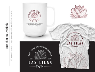Hand Drawn Logo For Las Lilas Coffee Company