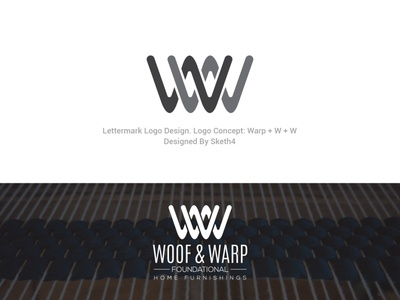Logo Design For Woof and Warp hand drawn vintage logo vintage minimalist logo design branding vector logo design logodesign logo