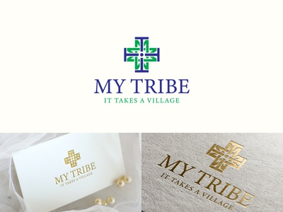 Logo For My Tribe vintage typography tribe illustration minimalist logo branding logo design design vector logodesign logo