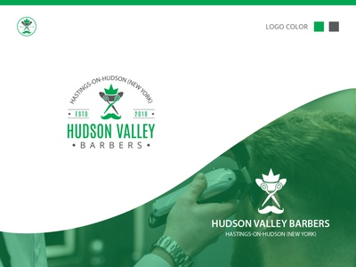 Hudson Valley Barbers illustration typography hand drawn minimalist logo branding design vector logo design logodesign logo