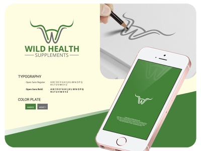 Wild Health illustration vintage hand drawn minimalist logo design branding vector logo design logodesign logo