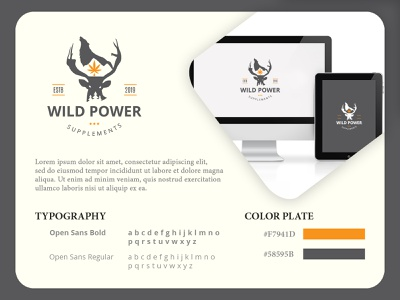 Wild Power Supplement illustration vintage minimalist logo hand drawn design branding vector logo design logodesign logo