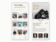 Movie app Neumorphism