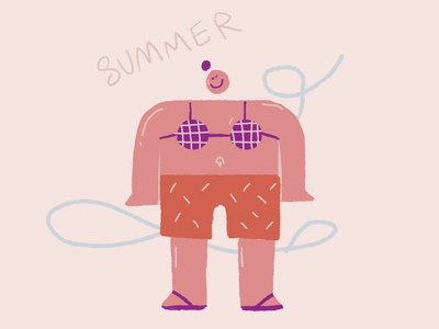 summer characterdesign illustraion