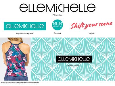 Ellemichelle Logo fashion typography branding design logo