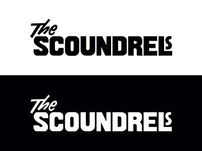 The Scoundrels logo custom lettering lettering workmark design logo design music band logo typography branding