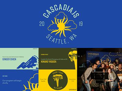 CascadiaJS 2019 identity event branding logo design illustration logo branding identity design idenity