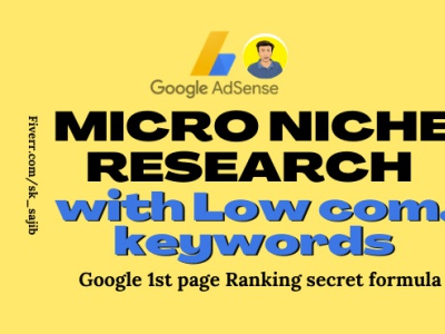 Profitable niche research for adsense blogging website seo services on page seo keyword research niche research seo
