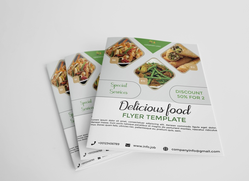 Food flyerdesign trifold brochure animation card branding graphic design company profile business card profile design design illustration flyer design