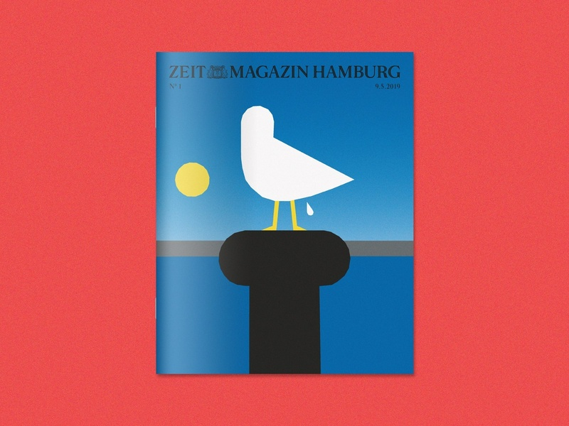 Zeit Magazin Hamburg Cover 1/2 adobe illustrator grain minimalism vector art drawing graphic artwork minimal vector flat editorial illustrator illustration
