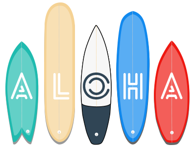 Aloha surfboard surf california hawaii boards longboard shortboard
