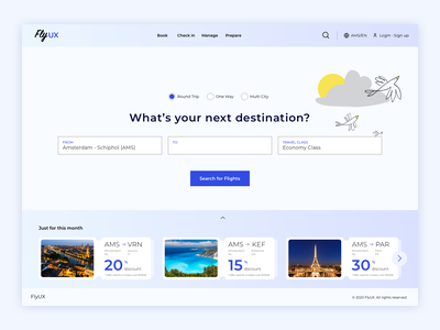 FlyUX destination suggestions design ui design high-fidelity uiux ui