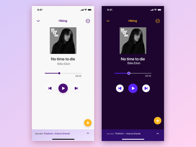 Earfull app – Dark & Light Mode mobile app ui design ui