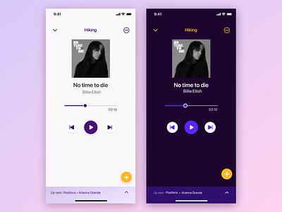 Earfull app – Dark & Light Mode mobile app ui design ui