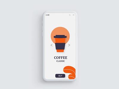 Classic Coffee UI design ui  ux design ui desgin ui ux ui deisgn ux design uxdesign ux  ui uxui ui  ux ui design uiux uidesign illustration designer cool design branding concept ux ui design
