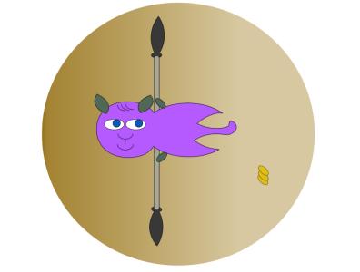 Warrior Cat flying! illustration design animation