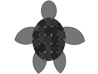 Turtle illustration design animation