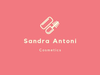 sandra antoni cosmetics logo web branding typography illustration illustrator logo design